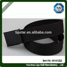 Classic Black Buckle Military Webbing Canvas Belt/homens cinto de Lona