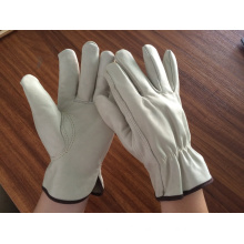 cowskin grain leather driver gloves