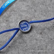 Etiqueta plástica al por mayor de la etiqueta colgante de cadena para la ropa
