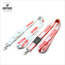Customized Polyester Lanyard Sewn with Satin Ribbon