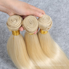Raw brazilian virgin human hair extension blonde straight human hair weave for reseller