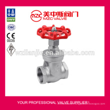 Threaded Stainless Steel Gate Valves 200WOG Gate Valves with Prices