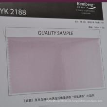 tecido de forro de mistura cupro de algodão colorido macio