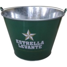 Branded Tin Beverage ice bucket