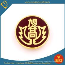 Diseño personal hierro estampado Soft Enamel Metal Pin Badge con chapado en oro