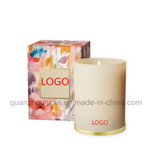 OEM Glass Scented Pillar Fragrant Candle for Promotional Gift