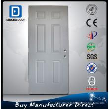 Fangda 6 Panel Porte intérieure en acier blanc