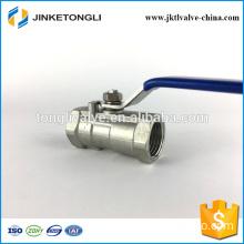 JKTL1B012 cf8m 1000 wog 1pc water tank cast iron ball valve with bleed port