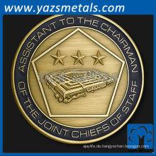 fertigen Sie Metallmünzen besonders an, kundenspezifischer General Peter Pace, Vorsitzender der gemeinsamen Chefs Herausforderung Münze