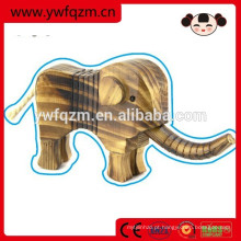 atacado de boa qualidade Mini animais escultura em madeira elefante artesanato