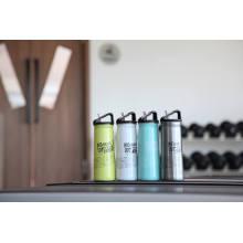 Tasse de flacon Ssf-580 de bouteille d'eau de sports extérieurs de mur simple d'acier inoxydable
