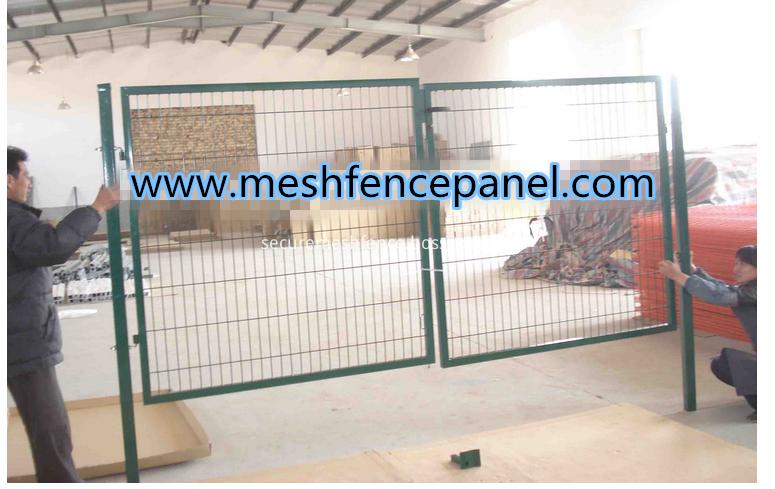 double garden mesh gate