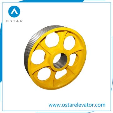Peças do elevador com ferro fundido barato do preço, polia de nylon do defletor (OS13)