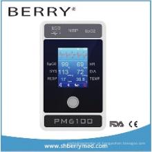 6 Parâmetro Monitor de Paciente Pm6100 com Tela