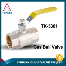 lever handle NPT thread nickle plated female iron nut new bonnets cw617n material brass gas ball valve medium pressure low price