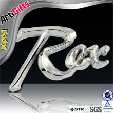 Cheap 3d metal car badges with strong adhesive sticker