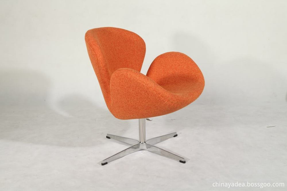 fabric swan chair