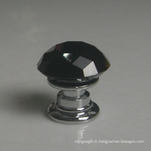 Meubles de bébé en verre cristal noir porte boutons Dia. 20mm