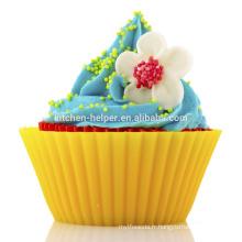 Custom BPA Free Food Grade Home Bricolage Baking Tool Résistant à la chaleur Soft anti-adhérent Silicone Coupes de cuisson au silicium Muffin cups