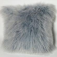Gros décoratif en peluche Tibet fourrure d'agneau mongole oreiller