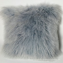 Wholesale Decorative Plush Tibet Mongolian Lamb Fur Pillow