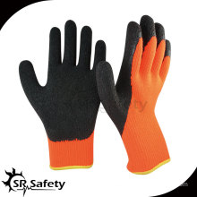 7G Acrylic Nappy Knitted Latex Palm Coated Crinkle Finish Gloves/ Knitted Latex Coating Glove/Working Glove