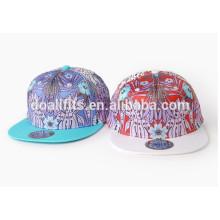 2016 el sombrero y los casquillos planos más nuevos del borde plano de la impresión digital con color natural