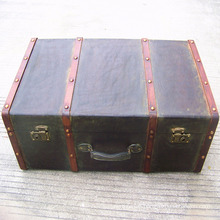 antique wooden storage trunk old style suitcase