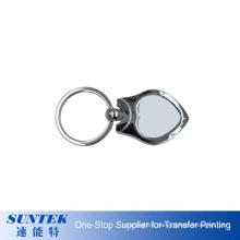 China Supplier Wholesale Custom Metal Blank Printing Logo Dye Sublimation Keychain