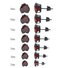Art und Weise unterschiedlicher Größen-Herz-Form-Kristallschmucksache-Bolzen-Ohrringe