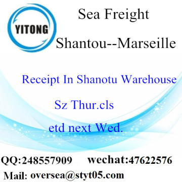 Shantou Port LCL Consolidation To Marseille