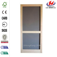Woodcraft Wood Unfinished Reversible Hinged Screen Door