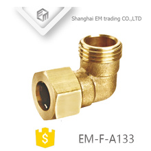 EM-F-A133 Male thread brass quick connector 90 degree elbow pipe fitting