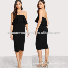Flounce Bandeau Pencil Dress Manufacture Wholesale Fashion Women Apparel (TA3184D)