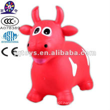 Inflatable animal toy bouncing cow