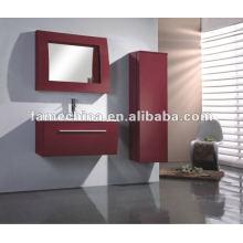Hangzhou wall red gloss PVC modern bathroom furniture