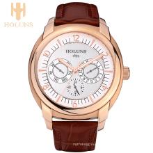 Big Dial Waterproof Automatique Digital Quartz Watch Homme en acier inoxydable Case Dress Sport Simple Style Wrist Watches