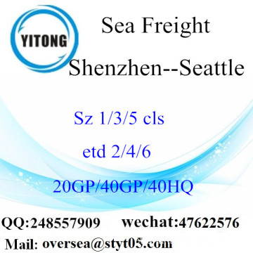 Shenzhen Port Sea Freight Shipping para Seattle