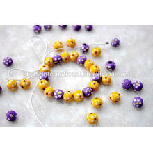 Chunky Round Wood Beads For Bracelets And Necklaces
