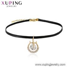 44326 Xuping Schmuck neu 18K Gold Plated elegante Choker Halskette mit personalisiertem Design der Charme