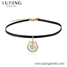 44326 Xuping Jóias Recém Banhado A Ouro 18 K Colar Gargantilha Elegante Com Design Personalizado De Charme