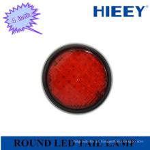 """24V venda quente / alta qualidade 4 """"rodada LED cauda lâmpada para caminhão e reboque"""