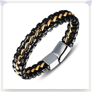 Joyería de moda cuero joyas pulsera de cuero (lb144)
