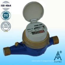 Compteur d'eau froide de Multi Jet Type sec en laiton