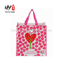 Custom full color printed pp woven bag