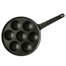 7Hole Cast Iron Aebleskiver Pan for Danish Stuffed Pancake