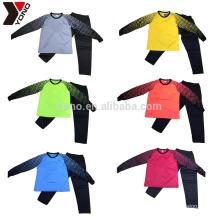 Kind Großhandel Billig Custom Ihr Logo Blank Long Sleeve Torwart Jersey