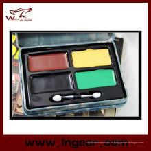 Táctica militar camuflaje compacto de pintura al óleo con 4 colores