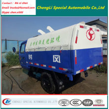 3 Tyres 2000liters Motor Sealed Garbage Truck