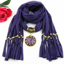 Tassels elegante da senhora da moda pingente embelezado lenço de jóias 2017